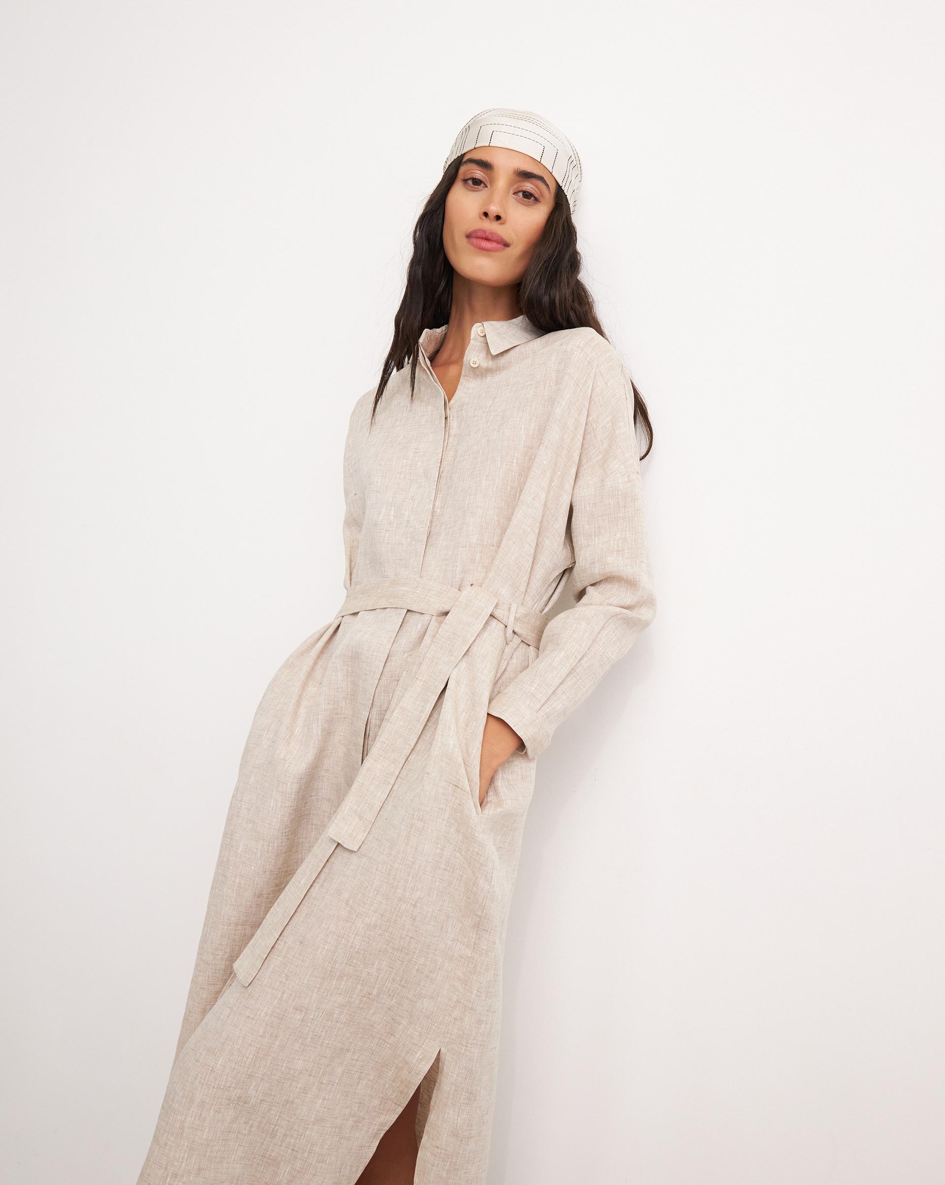 12⠀STOREEZ Платье-рубашка на поясе