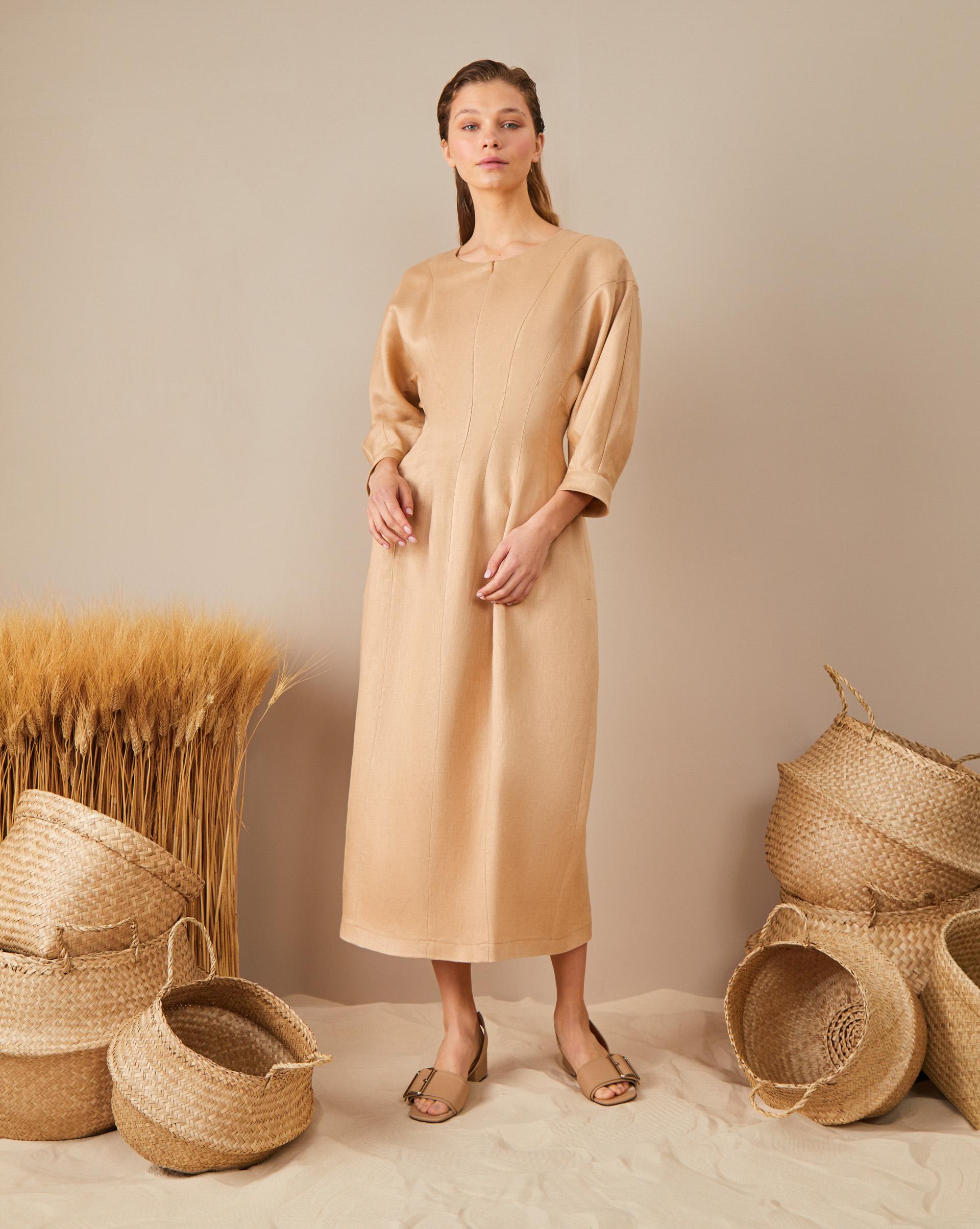 12Storeez Платье миди на молнии