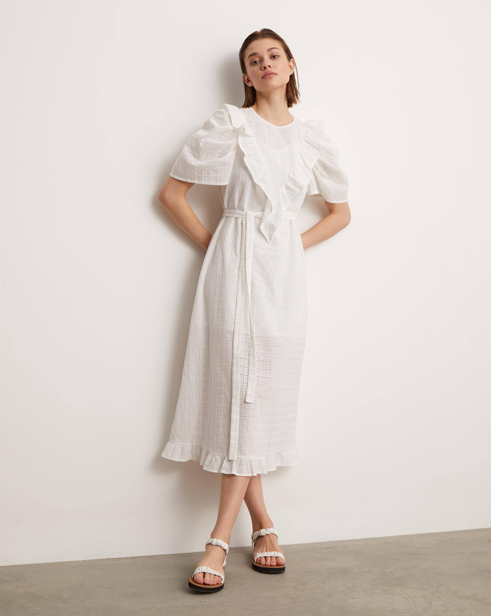 12⠀STOREEZ Платье миди с объемными рукавами