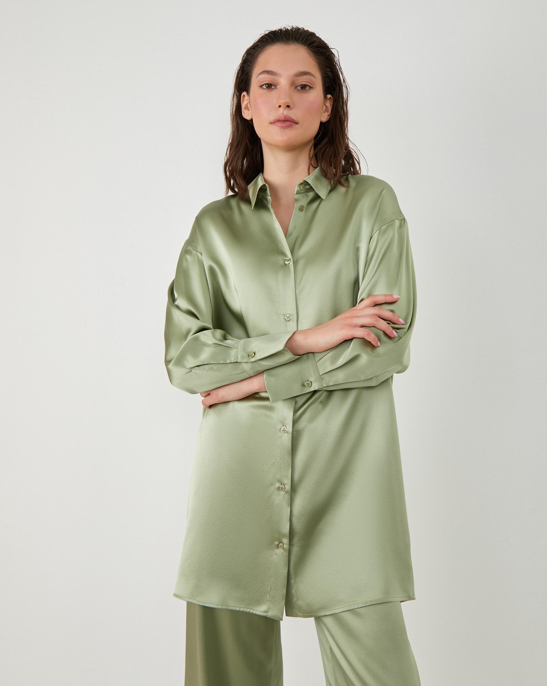 12STOREEZ Шелковое платье-рубашка etro шелковое платье с люрексом