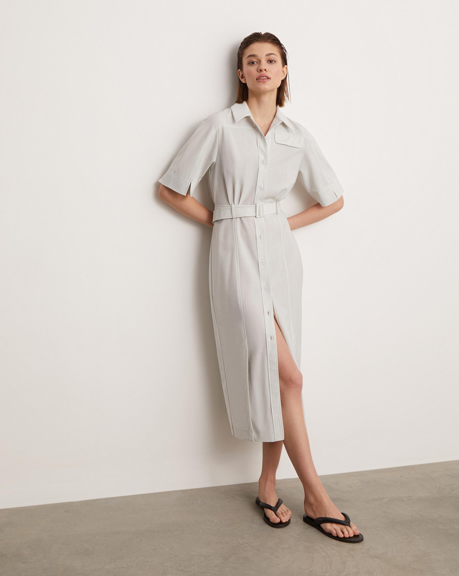 12⠀STOREEZ Платье-рубашка с поясом