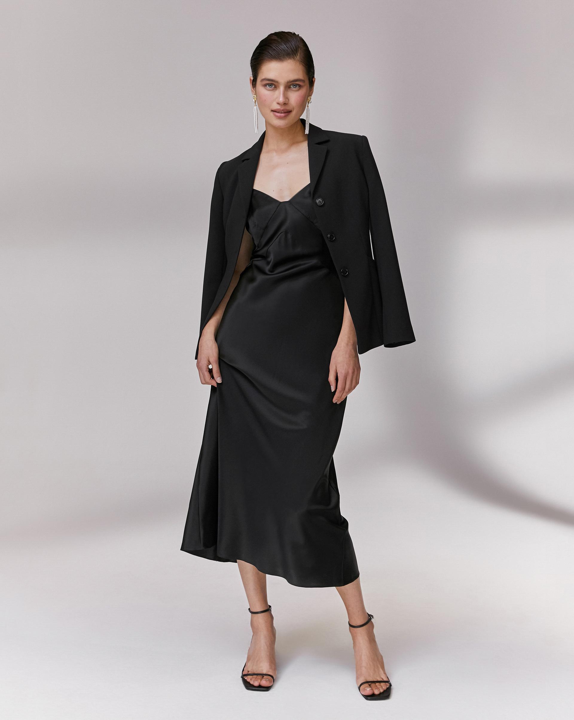 12STOREEZ Шелковое платье-комбинация