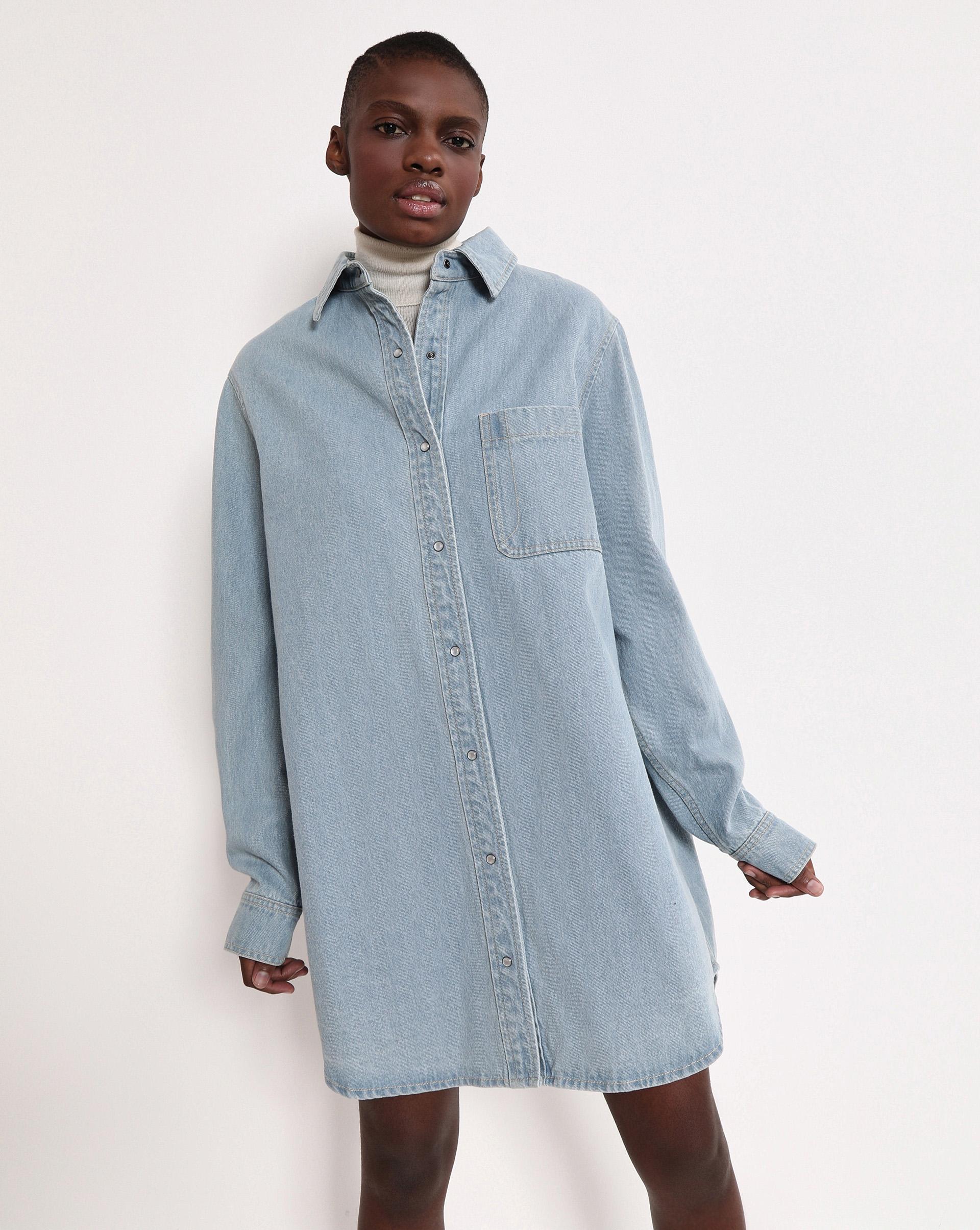 12STOREEZ Джинсовое платье-рубашка