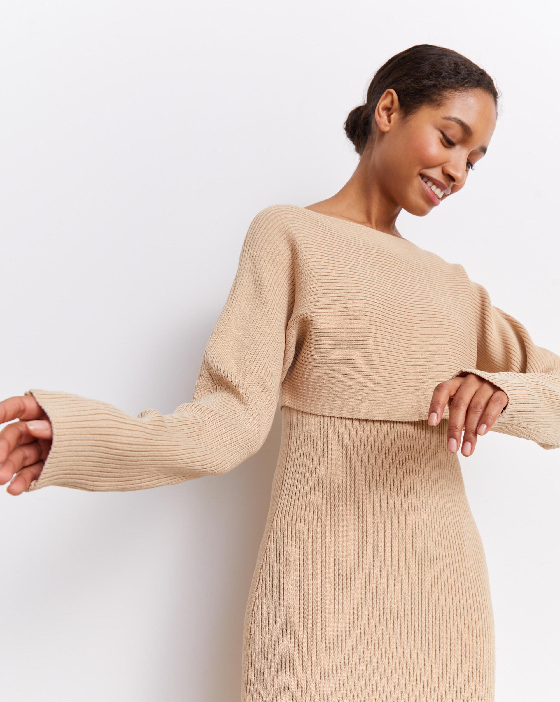 12⠀STOREEZ Платье с кроп-джемпером