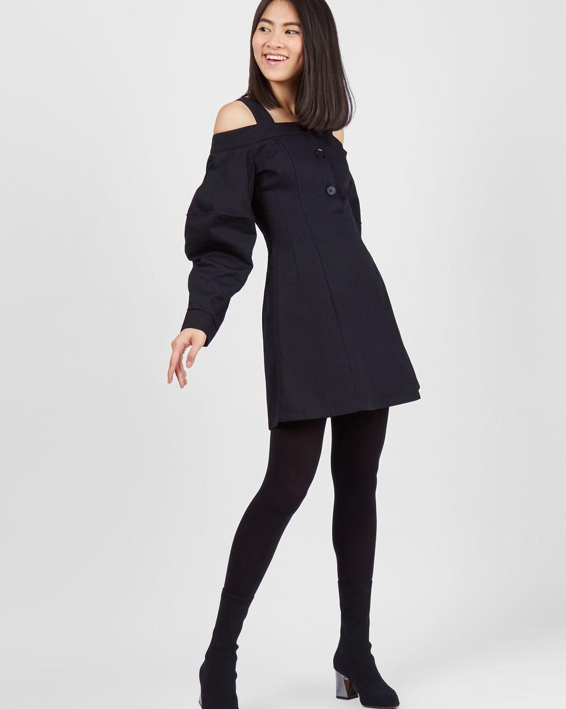 купить 12Storeez Платье мини с открытыми плечами (черный) дешево