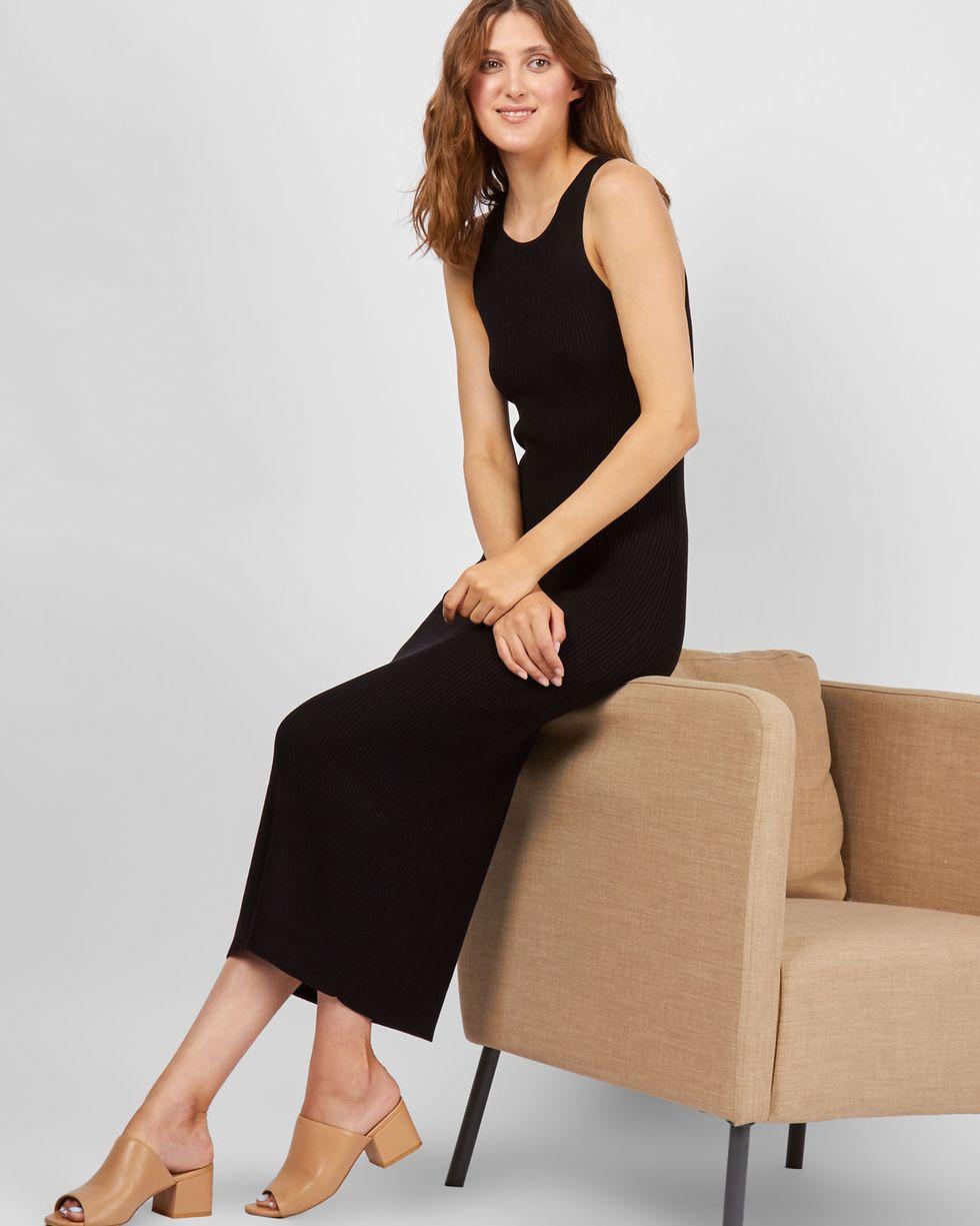 цена 12Storeez Платье трикотажное без рукавов (черное) SS 2017 онлайн в 2017 году