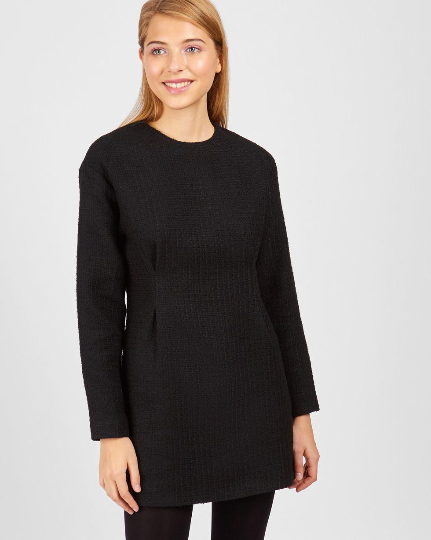 12Storeez Платье мини из хлопка (черный)