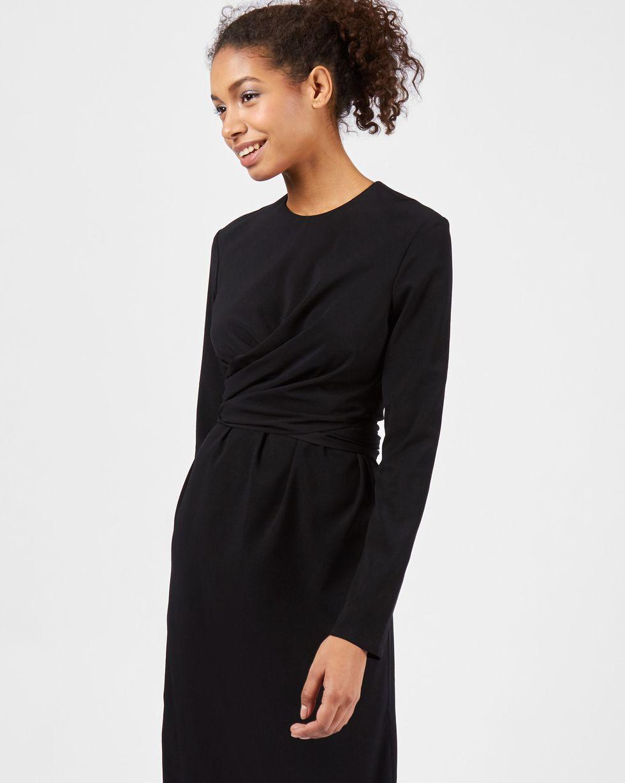 Платье миди с завязками на талии S
