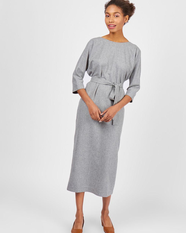 12Storeez Платье миди с вырезом и пуговицами сзади (светло-серый) 12storeez плащ из кожи светло серый