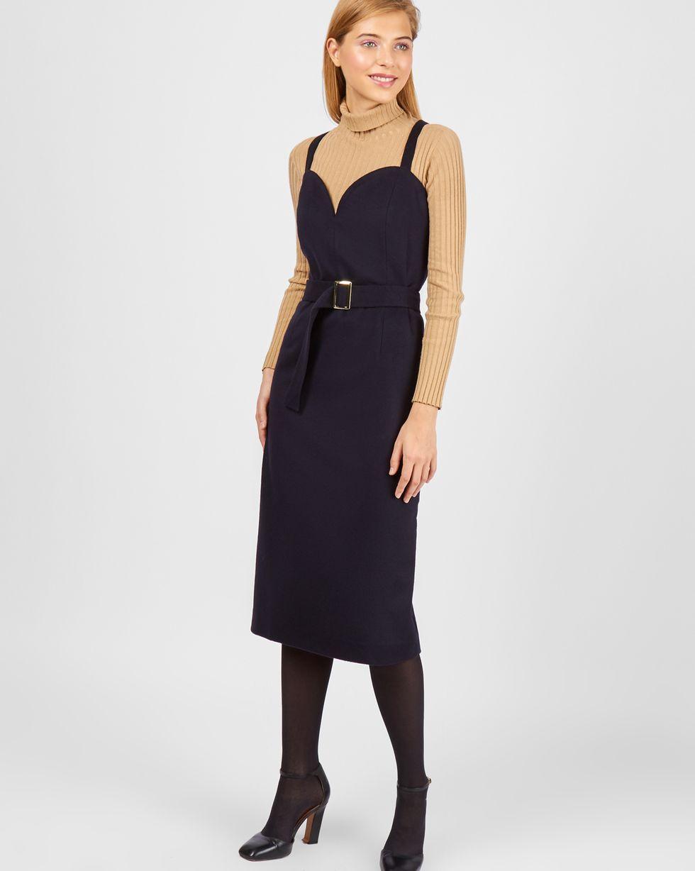 12Storeez Платье-комбинация из кашемира (темно-синий)