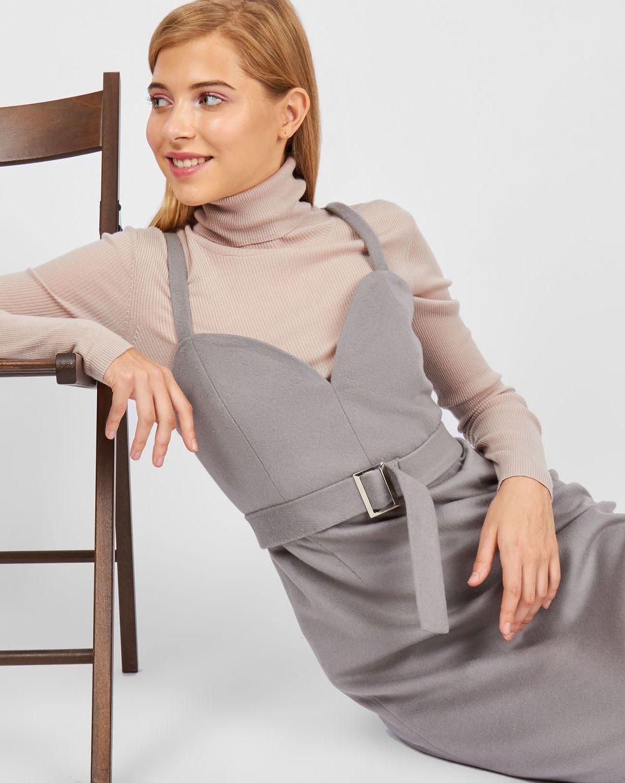 12Storeez Платье-комбинация из кашемира (светло-серый)