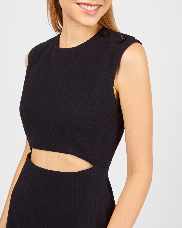 12Storeez Платье с вырезом на талии (черный)