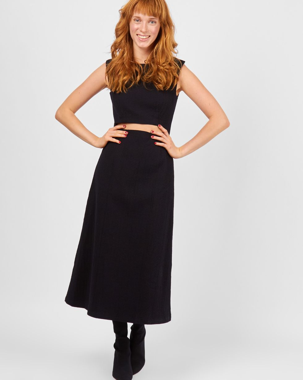 Платье с вырезом на талии LПлатья<br><br><br>Артикул: 82910864<br>Размер: L<br>Цвет: Черный<br>Новинка: НЕТ<br>Наименование en: Cut-out detail dress