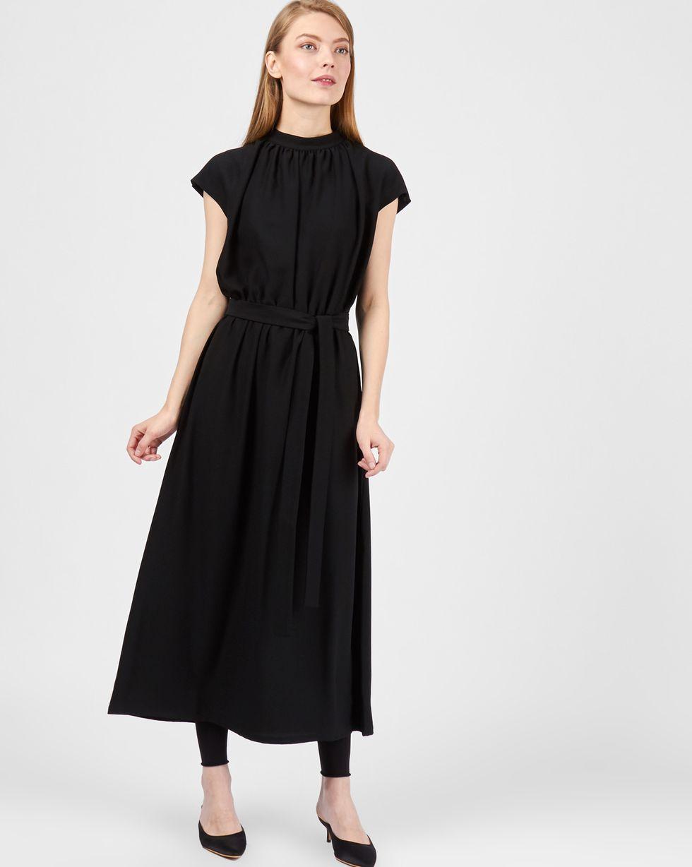 цены 12Storeez Платье миди с короткими рукавами (черный)