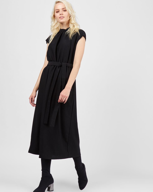 Платье миди с короткими рукавами MПлатья<br><br><br>Артикул: 82911296<br>Размер: M<br>Цвет: Черный<br>Новинка: НЕТ<br>Наименование en: Short sleeve midi dress