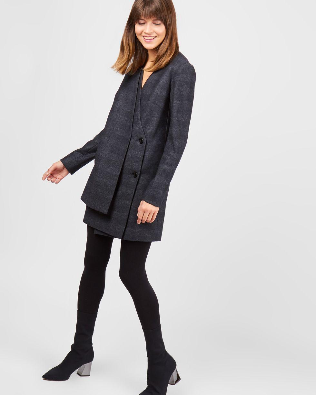 Платье-пиджак двубортное мини XS