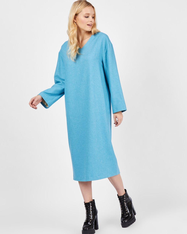 Платье со спущенными плечами XSПлатья<br><br><br>Артикул: 82911938<br>Размер: XS<br>Цвет: Бирюзовый<br>Новинка: НЕТ<br>Наименование en: Long sleeve drop shoulder dress