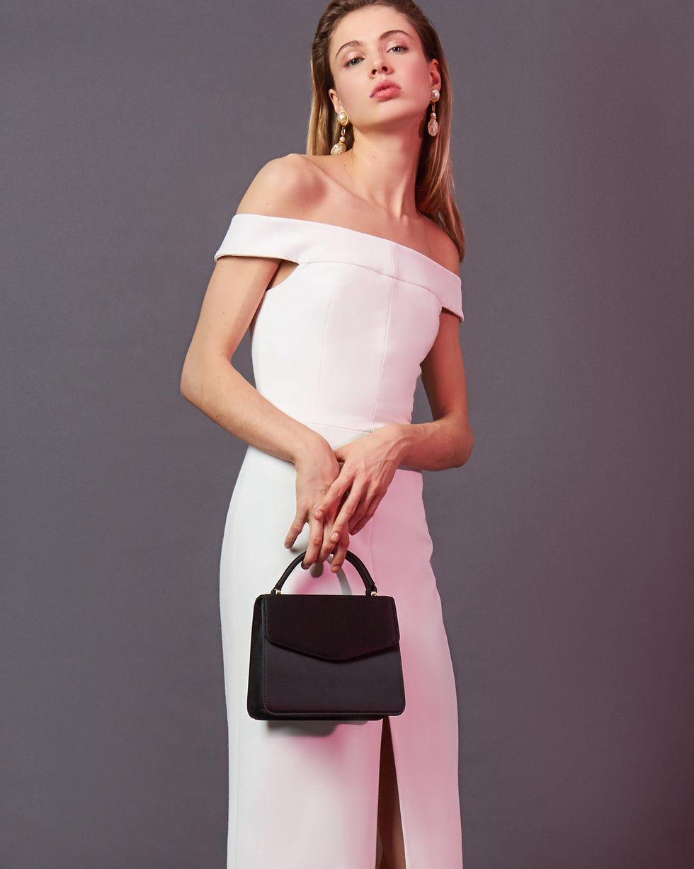 цена 12Storeez Платье миди со спущенными плечами (белый) онлайн в 2017 году