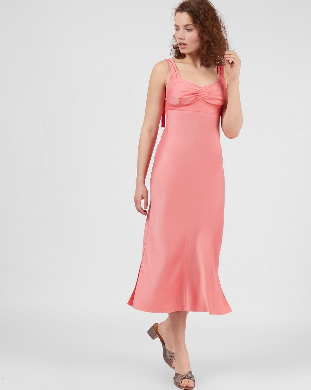 Комбинация на широких бретелях LПлатья<br><br><br>Артикул: 82912463<br>Размер: L<br>Цвет: Розовый<br>Новинка: НЕТ<br>Наименование en: Wide strap slip dress