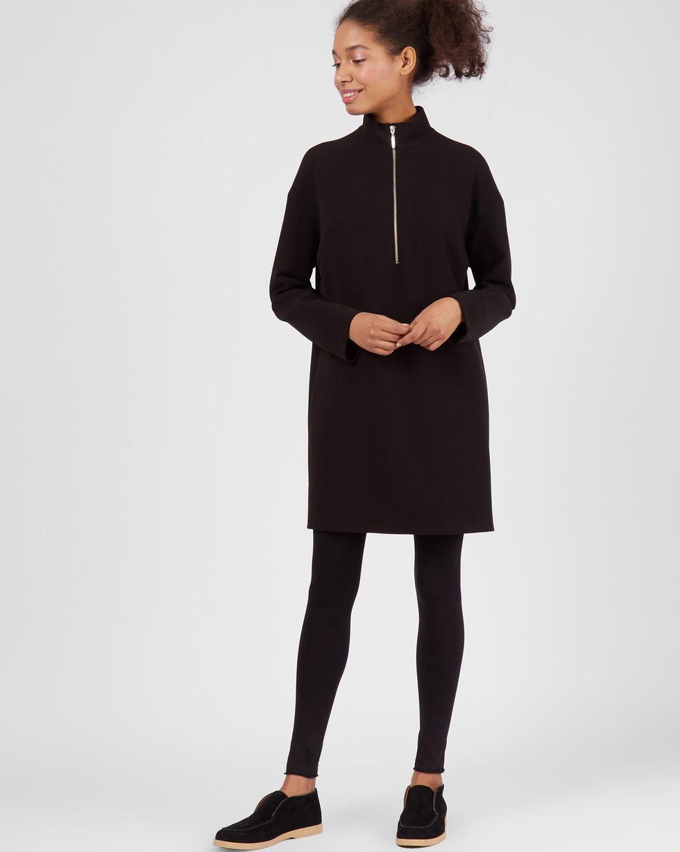 Платье мини на молнии XSПлатья<br><br><br>Артикул: 82912748<br>Размер: XS<br>Цвет: Черный<br>Новинка: НЕТ<br>Наименование en: Zip detail high neck dress