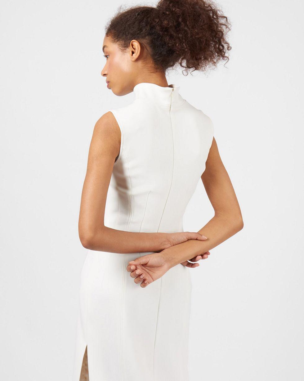 Платье миди без рукавов с разрезом SПлатья<br><br><br>Артикул: 82912764<br>Размер: S<br>Цвет: Молочный<br>Новинка: ДА<br>Наименование en: Side slit sleeveless dress