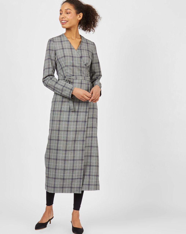 Платье с длинными рукавами с запахом XSПлатья<br><br><br>Артикул: 82912779<br>Размер: XS<br>Цвет: Серый<br>Новинка: НЕТ<br>Наименование en: Long sleeve wrap-over dress