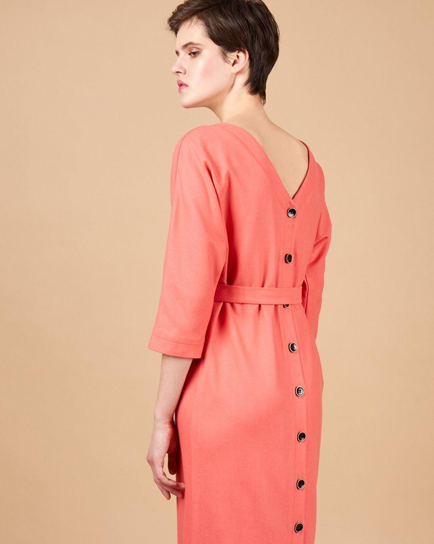 12Storeez Платье миди с V-образным вырезом и пуговицами сзади (розовый) картридж cubex pla бирюзовый