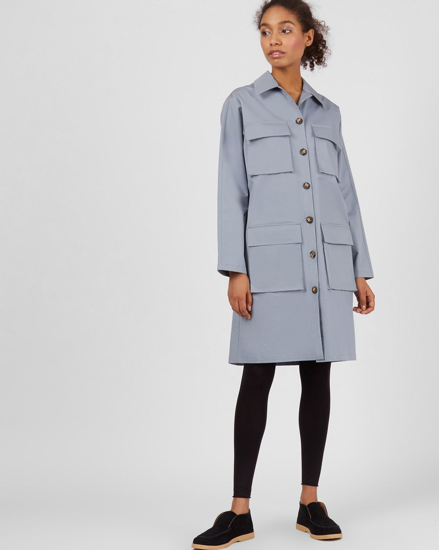 Платье прямое с карманами SПлатья<br><br><br>Артикул: 82913280<br>Размер: S<br>Цвет: Серый<br>Новинка: ДА<br>Наименование en: Pocket detail straight fit dress