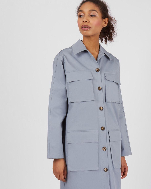 цена 12Storeez Платье прямое с карманами (серый) онлайн в 2017 году
