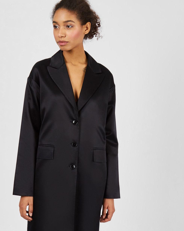 12Storeez Платье-пиджак свободного кроя (черный)