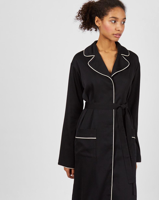 12Storeez Платье миди с кантом (черный)