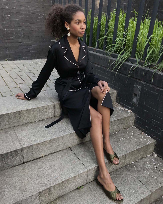 12Storeez Платье миди с кантом (черный) 12storeez платье миди с кантом белый