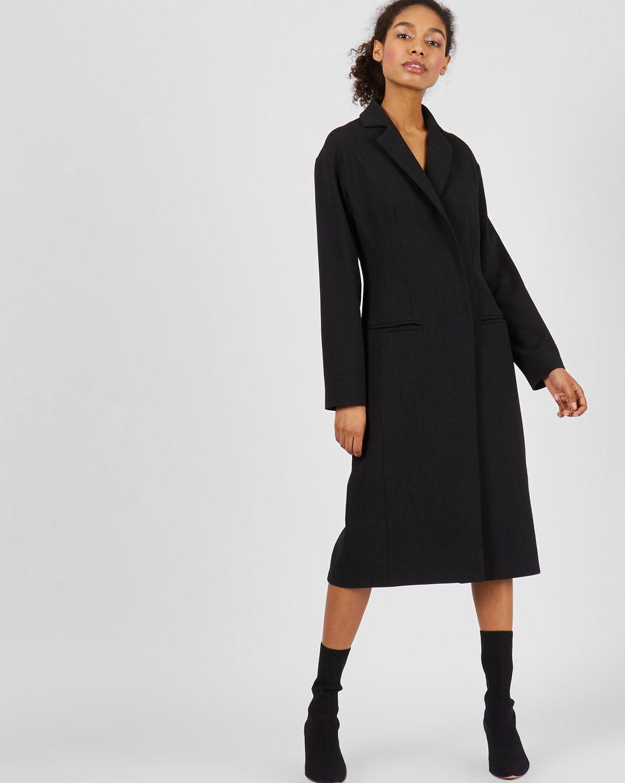 Платье-пиджак со спущенными плечами XSПлатья<br><br><br>Артикул: 82913719<br>Размер: XS<br>Цвет: Черный<br>Новинка: ДА<br>Наименование en: Drop shoulder coat dress