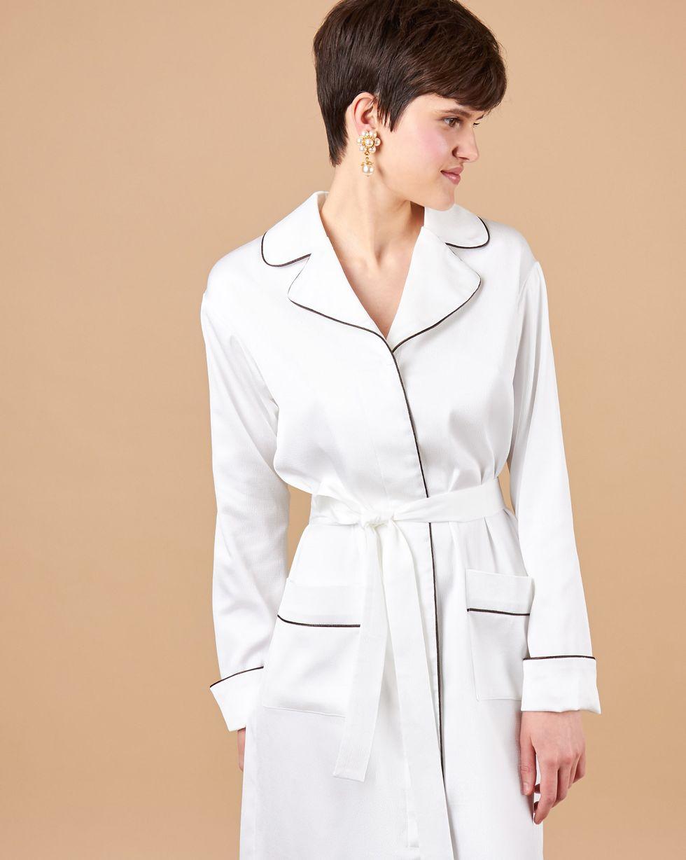 12Storeez Платье миди с кантом (белый) 12storeez платье миди с кантом белый