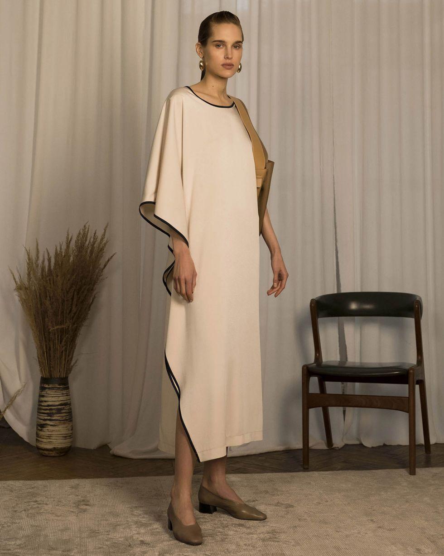 12Storeez Платье макси летучая мышь (молочный)
