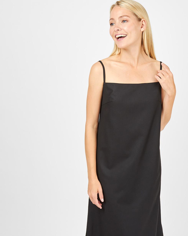12Storeez Платье макси на тонких бретелях (черный) платье