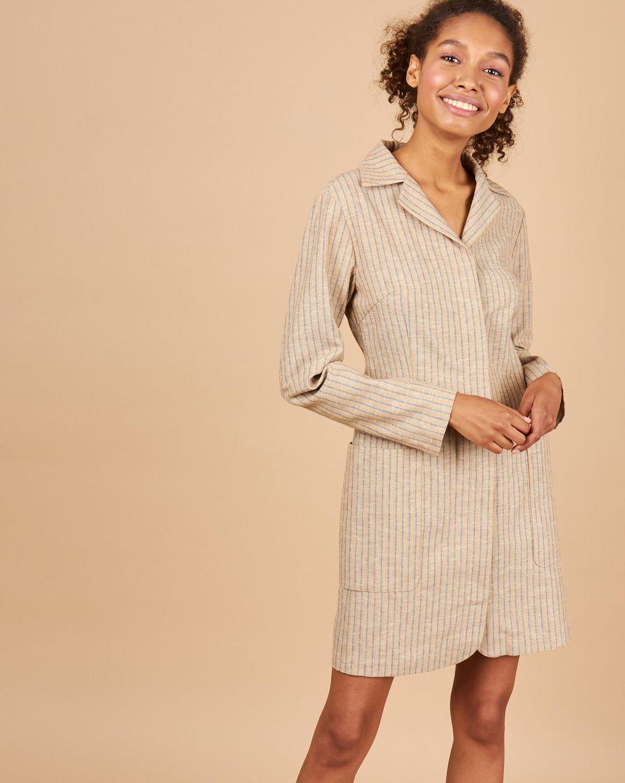 12Storeez Платье мини с объемными карманами (бежевый) малого сексуально женщин от летних моды случайных плечо мини платье