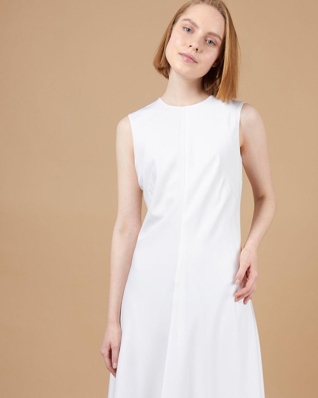 Платье миди без рукавов LПлатья<br><br><br>Артикул: 82914150<br>Размер: L<br>Цвет: Молочный<br>Новинка: ДА<br>Наименование en: Sleeveless midi dress
