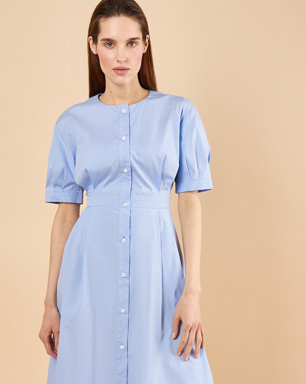 12Storeez Платье-рубашка с укороченным низом (голубой) 12storeez платье с плиссированным низом в горох желтый