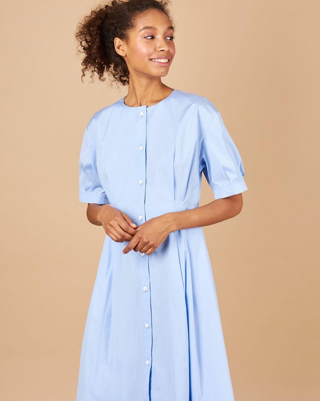 12Storeez Платье-рубашка миди (голубой) платье рубашка fox yulia sway платье рубашка fox