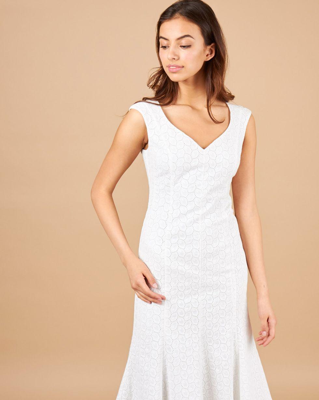 12Storeez Платье с юбкой годе (молочный) платье devore цвет молочный
