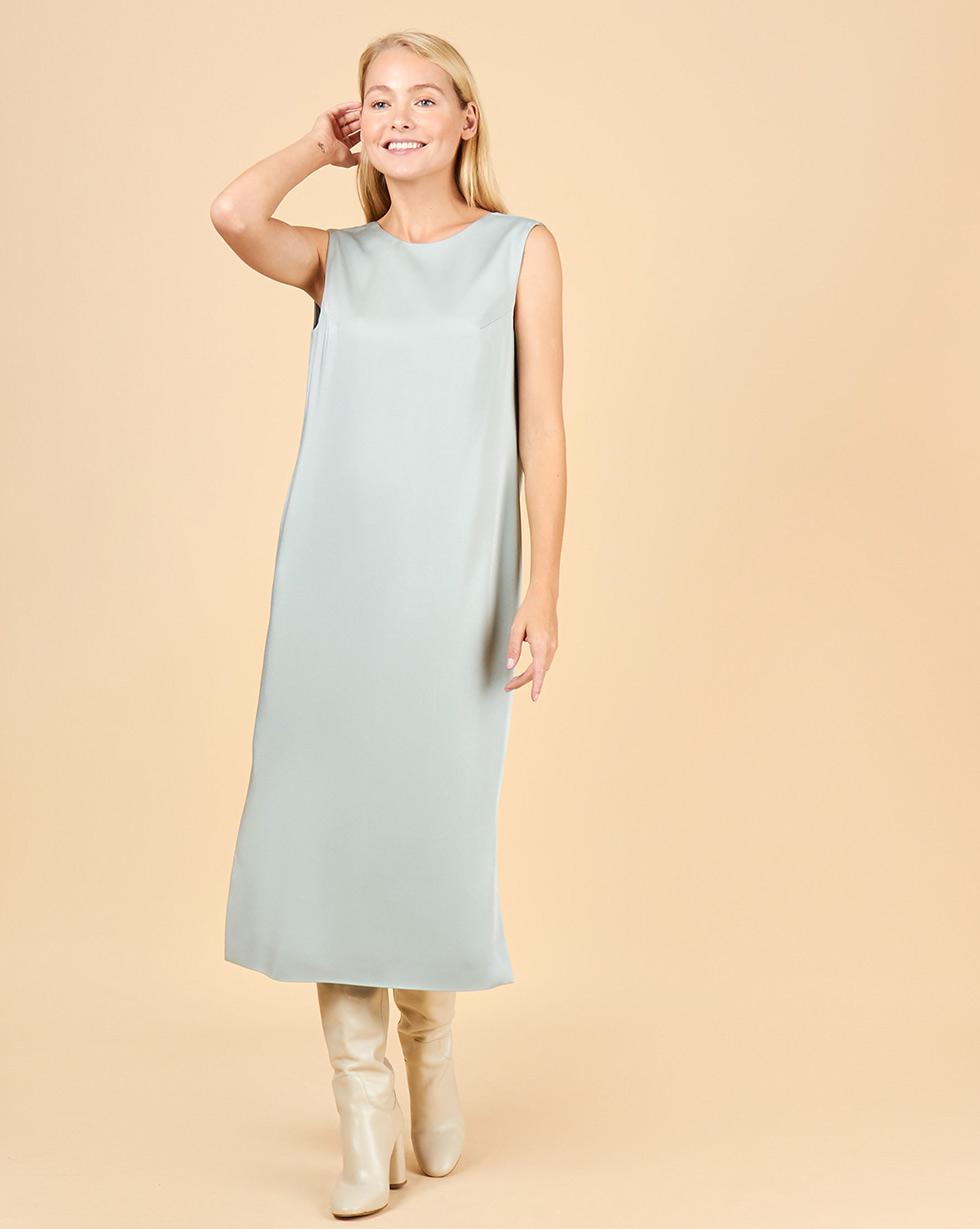 12Storeez Платье с треугольным вырезом (светло-зеленый)