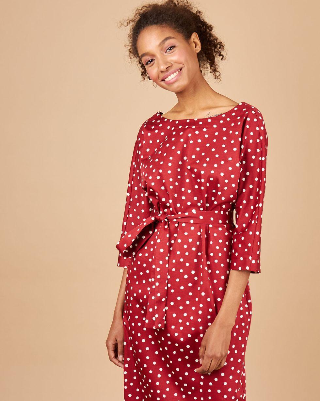 12Storeez Платье миди с вырезом и пуговицами сзади 12storeez платье миди с вырезом и пуговицами сзади красный в горох