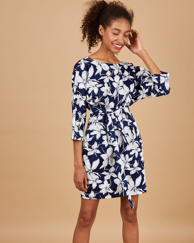 12Storeez Платье мини с вырезом и пуговицами сзади (темно-синий) 12storeez платье мини с вырезом и пуговицами сзади белый с красными цветами