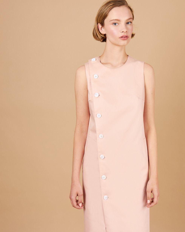 12Storeez Платье без рукавов из плотного хлопка (розовый) printio платье без рукавов