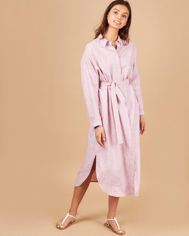 12Storeez Платье-рубашка на поясе (розовый) платье рубашка fox yulia sway платье рубашка fox