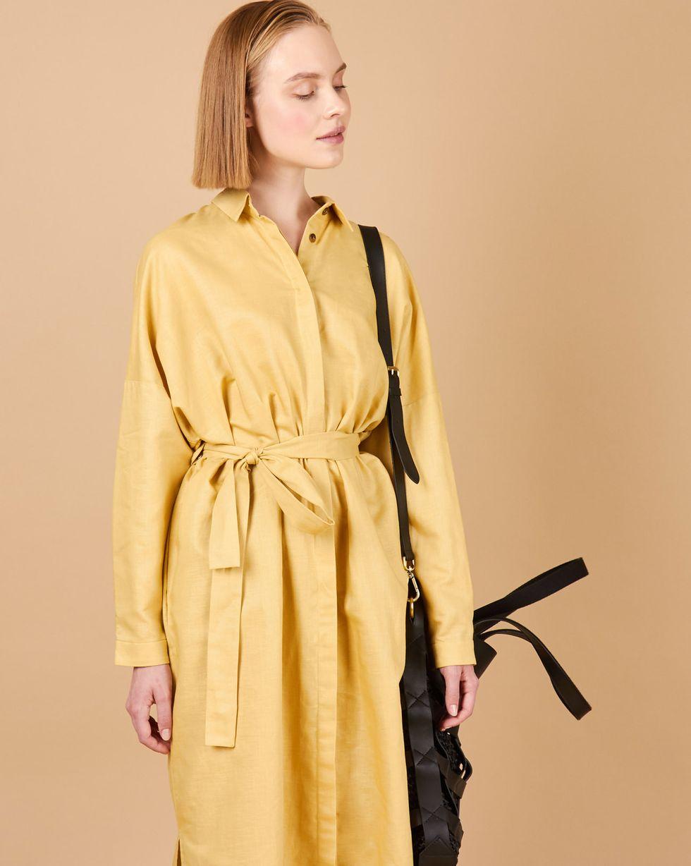 12Storeez Платье-рубашка на поясе (песочный) платье рубашка fox yulia sway платье рубашка fox