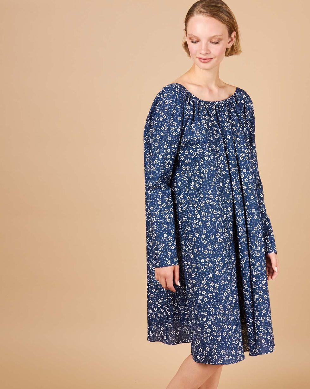 12Storeez Платье миди с вырезом на спине в цветок (темно-синий) 12storeez футболка с v образным вырезом темно песочный