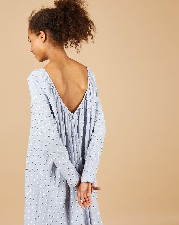 12Storeez Платье миди с вырезом на спине (серо-голубой) 12storeez футболка с v образным вырезом голубой