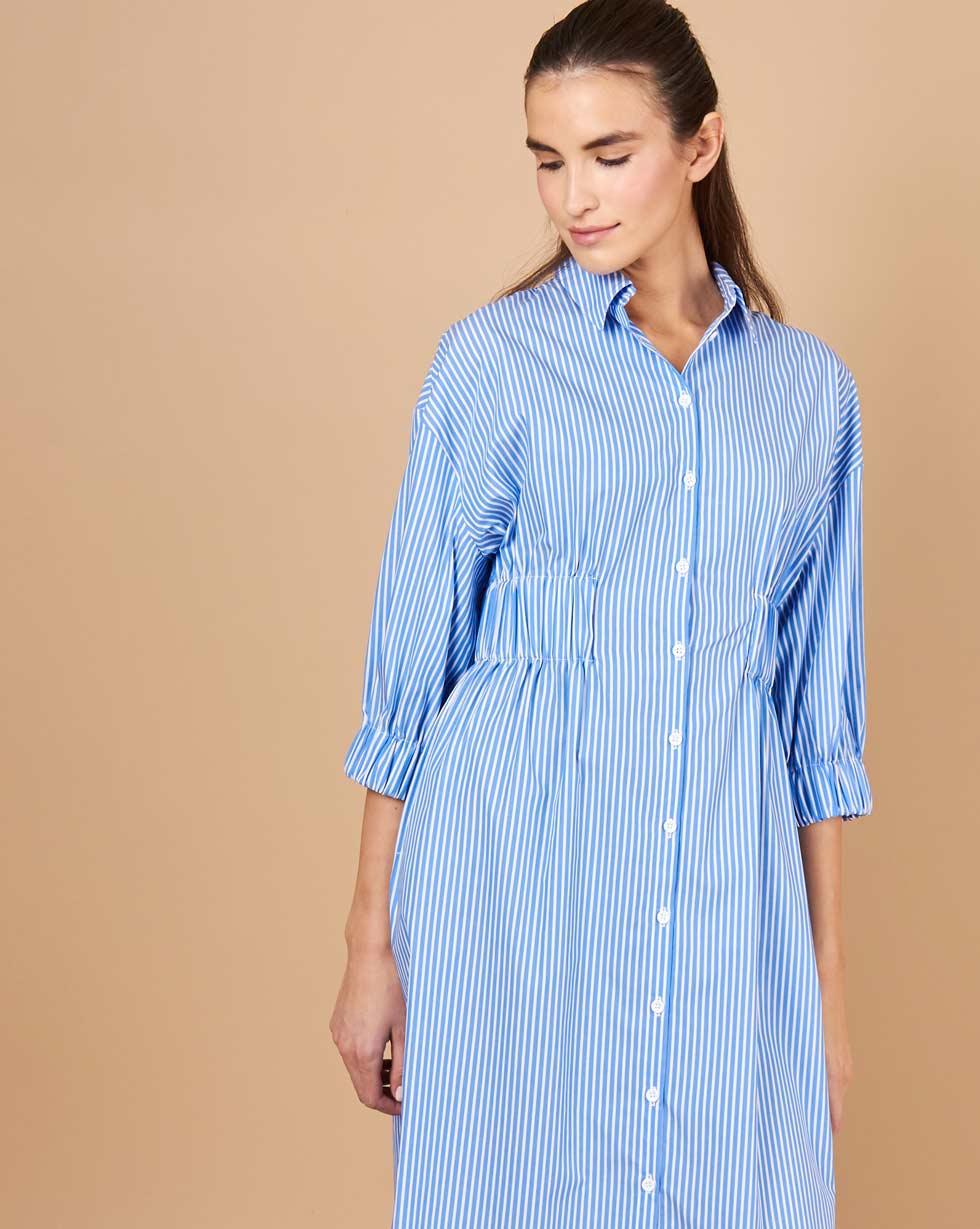 12Storeez Платье-рубашка в полоску (синий) платье рубашка в полоску dynastie